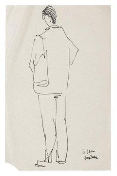 Figure - Original Pen on Paper - Mid-20th Century