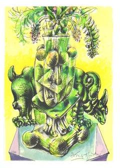 Vegetation - Original Lithograph by Daniele Dimitri - 1970s