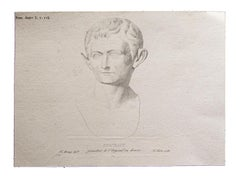 Roman Emperor - Original Print by F. Mazois - Early 19th Century