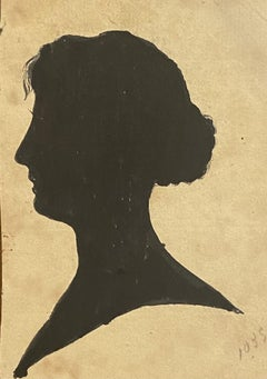 Figure of Woman - Original China Ink on Paper - 1895