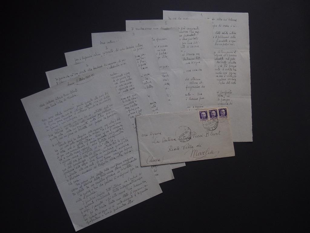 Nell'ora più bella - Autograph Letter Signed by Fabrizio Clerici - 1938