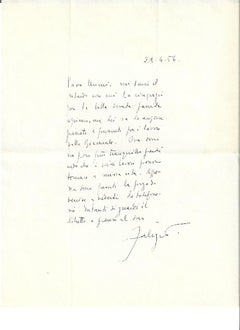 Autograph Letter Signed by Fabrizio Clerici - 1956