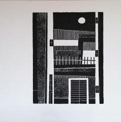 Karst Housewife - Original Woodcut Print by Luigi Spacal - 1970s