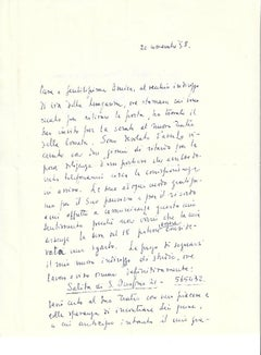 Autograph Letter Signed by Fabrizio Clerici - 1958