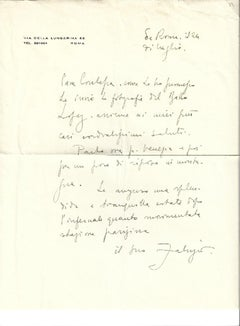 Autograph Letter Signed by Fabrizio Clerici - 1957