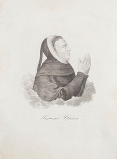 Portrait of Francesco Petrarca  - Etching  by G. Morghen - Early 19th Century