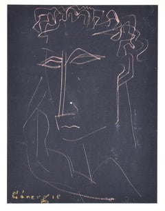 L'Energie (The Energy) - Original Pastel on Paper - Mid-20th Century