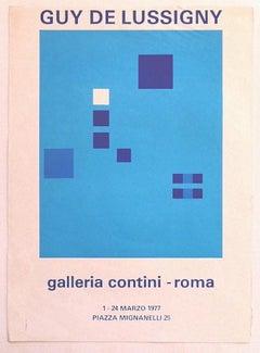 Guy De Lussigny - Exhibition Poster - Original Offset Print - 1977