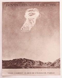 Vintage Dennis Oppenheim Poster - Original Offset Print - Late 20th Century