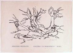 Armando Pizzinato Exhibition Poster - Original Offset Print - Mid-20th Century