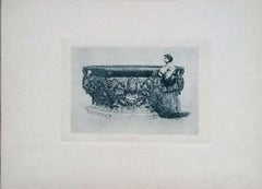 Well of the Ducal Palace - Original Etching on Cardboard by L. Beltrami - 1877