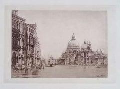 Venice, Canal Grande - Original Etching by L. Beltrami - 1877