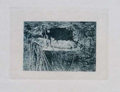Fontainebleau Forest - Original Etching by L. Beltrami - 1877
