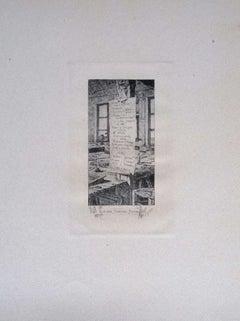 Paris, L'Atelier Pascal - Original Etching on Cardboard by Luca Beltrami - 1877