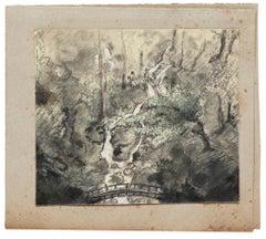 The Pond - Original Drawing - 1900s