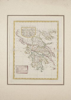 Map of Ancient Greece - Original Etching by Antonio Zatta - 1785