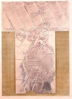 Composition - Original Mixed Media by Carlo Scarpa - 1970s