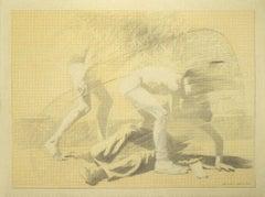 The Fight - Original Pencil on Paper - 1974
