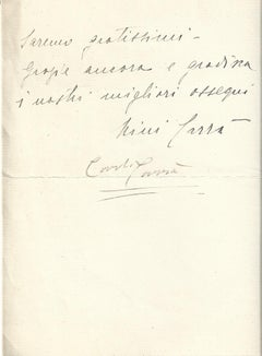 Autograph Letter by Carlo Carrà - 1938