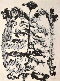 Composition - Original Ink Drawing by Rafael Alberti - 1970s