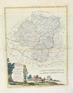 Map of Lymosin-Perigord-Quercye - Original Etching by Antonio Zatta - 1776