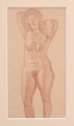 Nude - Original Drawing on Paper by Jean Delpech - 1930 ca.