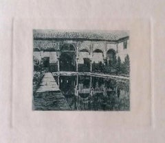 Certosa - Original Etching on Paper by Luca Beltrami - 1884 ca.