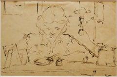 Woman - Original Drawing by Arturo Peyrot - 1960 ca