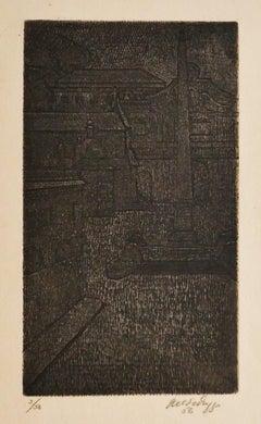 Rome - Original Etching by Antonino Virduzzo - 1970s