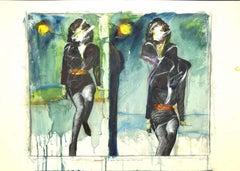 20th Century Top Model - Original Mixed Media by Sergio Barletta - 1994