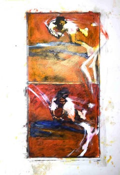 Jimbo Jump - Original Mixed Media by Sergio Barletta - 1992
