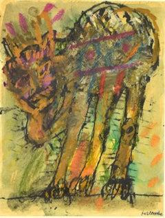 The Creature - Original Mixed Media by Sergio Barletta - 1970s