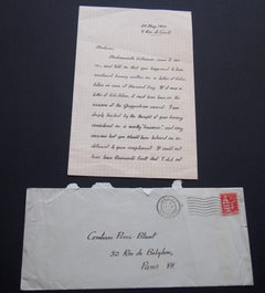 Autograph Letter Signed by Glenway Wescott - 1933