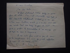 Autograph Letter Signed by Charles Albert Cingria - 1930s/1940s