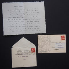 Autographs Signed by Charles Albert Cingria - 1933
