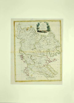 Map of Greece - Original Etching by Antonio Zatta - 18th Century