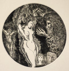 Nude - Original Etching by Gian Paolo Berto - 1974