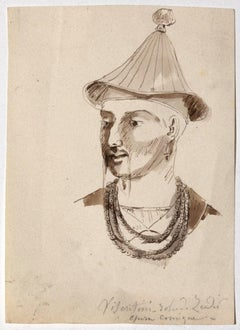 Costume for the Opera - Original Ink and Watercolor on Paper - 18th Century