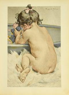 La Poupée - Original Lithograph by M. Delorme - 1899