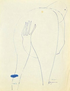Figure - Original Pen Drawing by Danilo Bergamo - 1970s