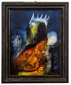 The King - Original Oil Painting by Piero Sbano - 1980s