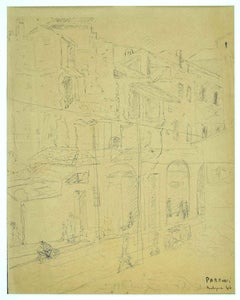 Architecture - Original Pen on Paper signed Parroni - 1946