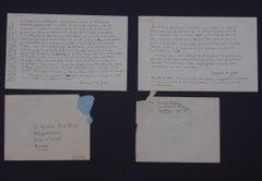La Nouvelle de Mariage - Autograph Letter Signed by François Le Grix - 1950