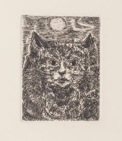 The Cat - Original Etching by Gian Paolo Berto - 1970s