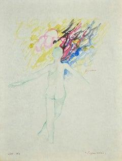 The Balance - Original Watercolor by Danilo Bergamo - 1964