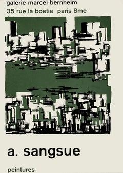 A. Sangsue - Vintage Exhibition Poster - 1958