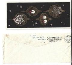Merry Christmas Card Signed by Vittorio Rieti - 1956