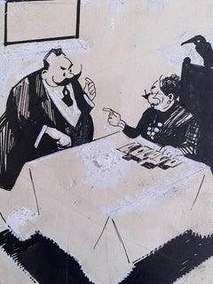 The Fortune Teller - Original China Ink by Gabriele Galantara - 1910s