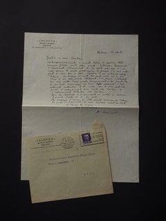 Colonna Rivista - Autograph Letter Signed by Alberto Savinio - 1934