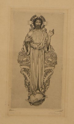 Jesus Christ - Original Etching and Drypoint by S. Lipinsky - 1921